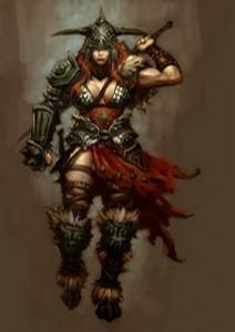 Варвар-женщина в Diablo 3